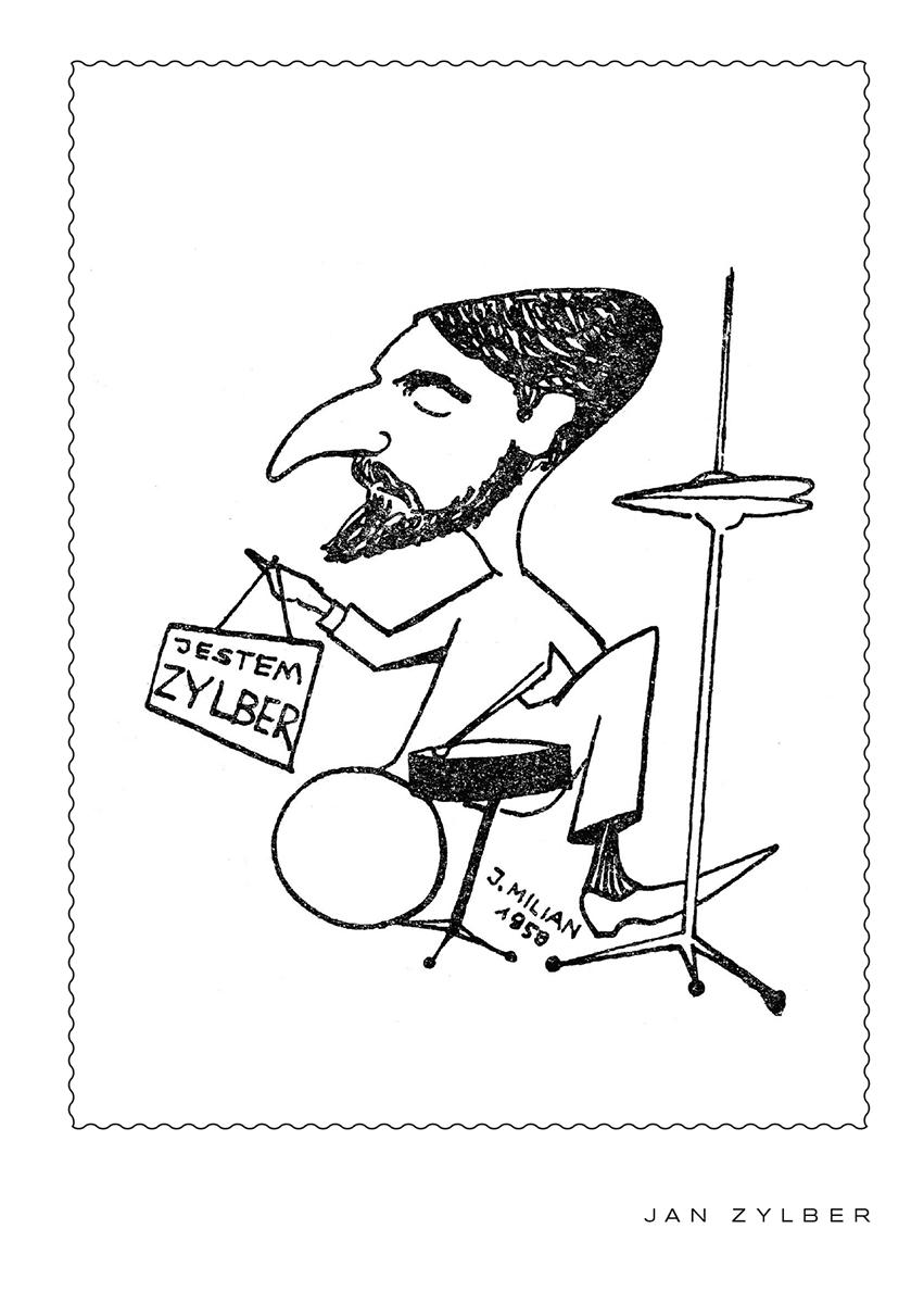 """Jan Zylber (Cykl """"Milian: Karykatury"""") (POCZTÓWKA)"""